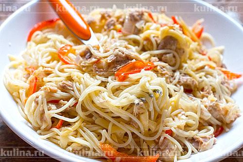 Капеллини с морепродуктами, пошаговый рецепт с фото