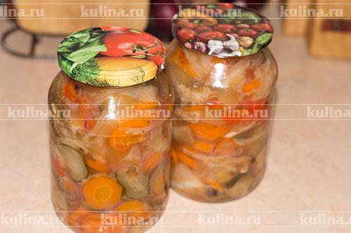 охотничий салат рецепт горошком