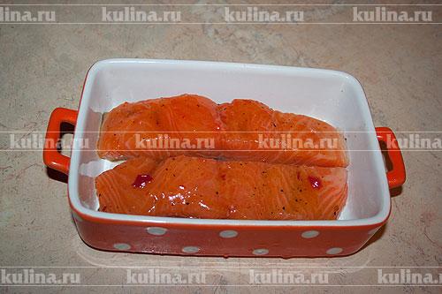 Рецепт семги с сыром сливками