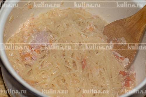 Соус с ветчиной к макаронам рецепт с фото