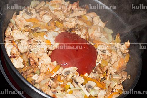 Поджарка из индейки с подливкой рецепт пошагово