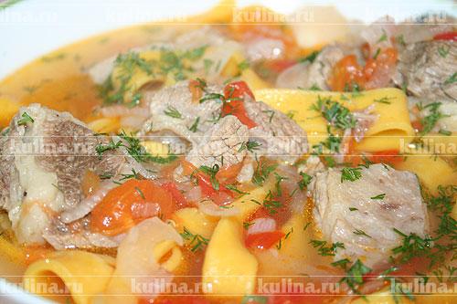 рецепт суп-лапша с уткой рецепт с фото #4