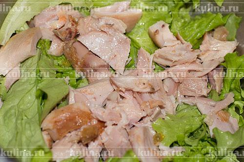 курица с вешенками