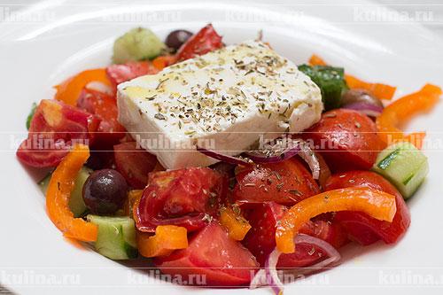 салат деревенский в ленте рецепт