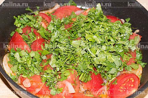 печень с помидорами в духовке рецепт с фото