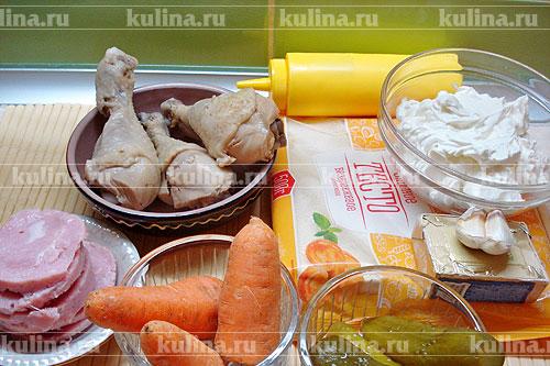 """Торт """"Мясной Наполеон"""": гости ахнут от восторга (Пошагово + Фото)"""