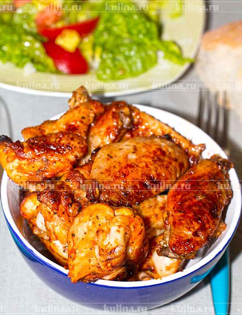 крылья запеченные с картофелем в духовке рецепт