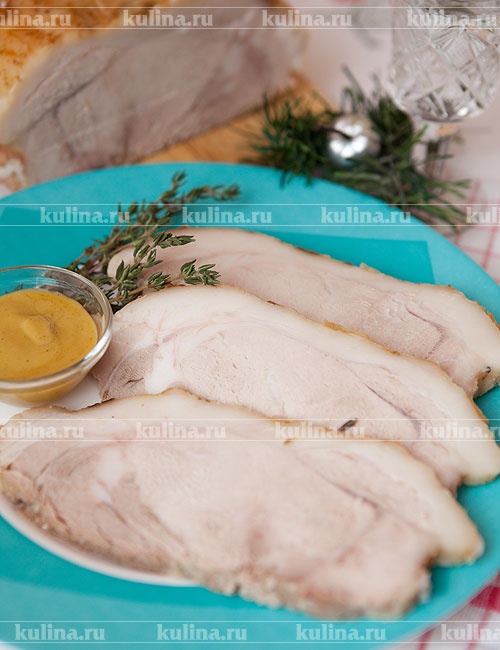 Приготовления свиного карбоната рецепт