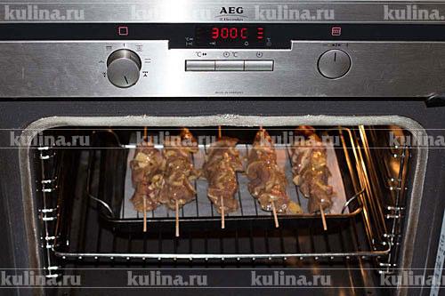 шашлык в духовке рецепт режим духовки
