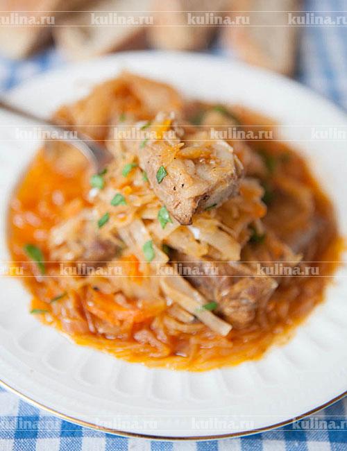 Тушеное мясо с картошкой и овощами в духовке рецепт 51