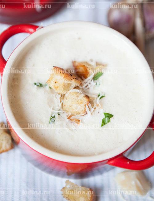 чесночный крем суп рецепт