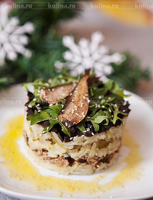 рецепт салат из языка с соленым огурцом и