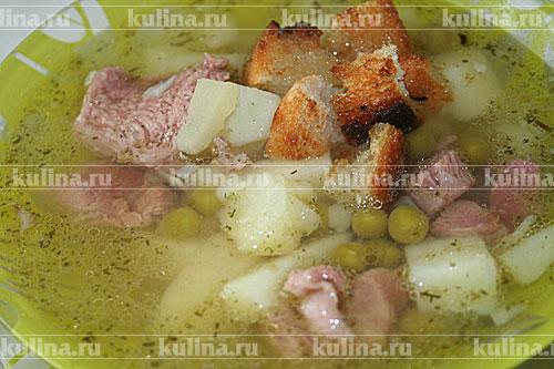 гороховый суп с зеленым горошком консервированным рецепт