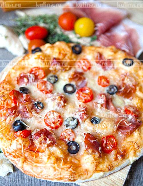 Пицца с ветчиной и сыром в домашних условиях рецепт 49