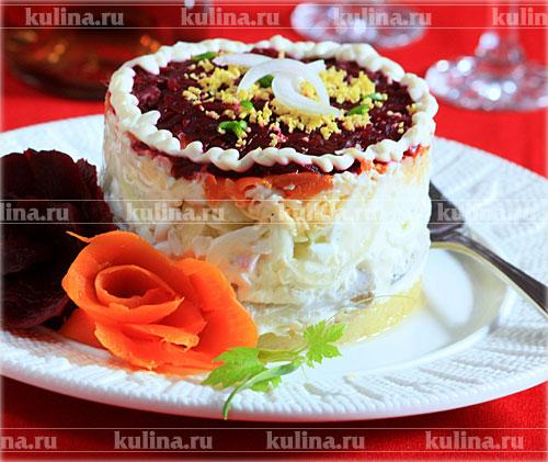 салат под шубой с яйцом рецепт с фото