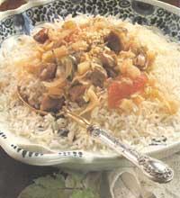Рис с мясным соусом   сюб гюм