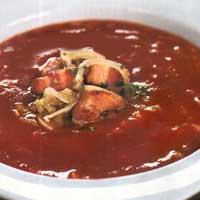 Томатный суп с грудинкой