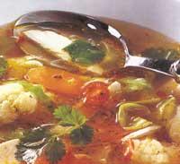 Пикантный куриный суп